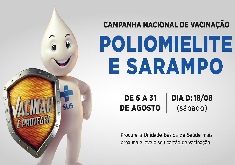Começa mais uma campanha de vacinação contra a Polio e o Sarampo