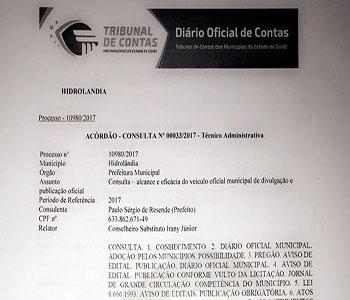 """""""Diário Oficial dos Municípios é LEGAL"""" – diz TCM"""