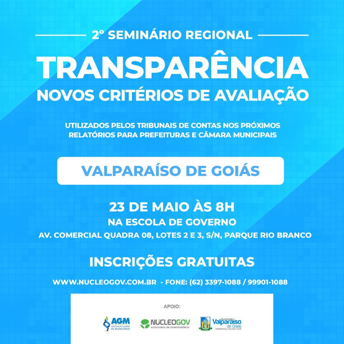 2º Seminário Regional – Transparência Novos Critérios de Avaliação