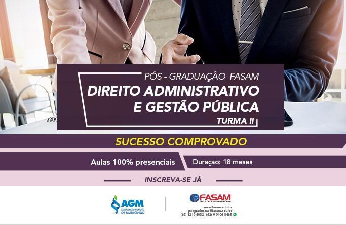 Pós-Graduação Direito Administrativo e Gestão Pública