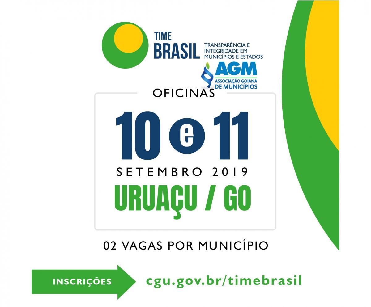 Time Brasil: novo programa de cooperação entre estados, municípios, CGU e órgãos parceiros