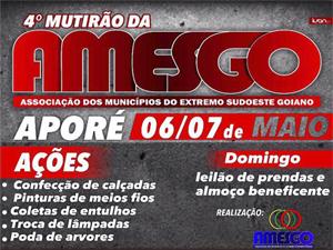 AMESGO promove mutirão de municípios em Aporé