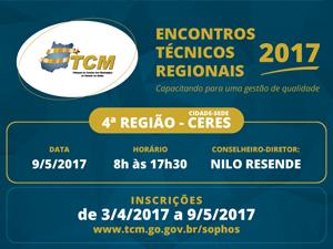 Encontro Técnico Regional do TCM chega às regiões Norte e Vale do São Patrício
