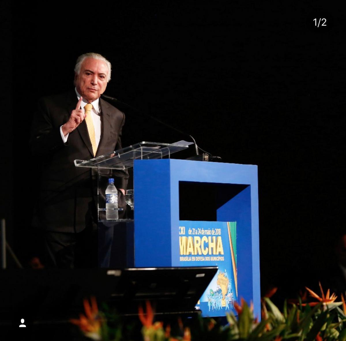 Presidente Michel Temer participa da marcha e assina decreto das UPAs