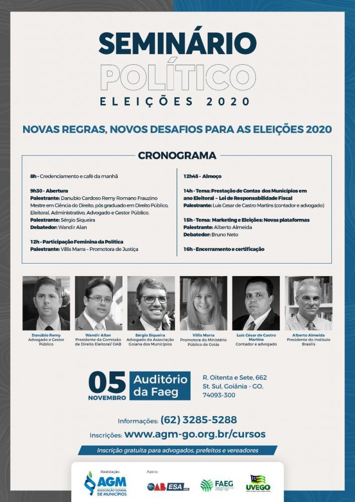 Seminário Político sobre as Eleições 2020. Novas Regras, Novos desafios.