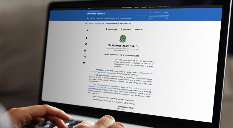 Medida Provisória permite repasse do apoio financeiro aos municípios