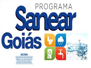 Programa Sanear Goiás para municípios com até 5.000 habitantes.