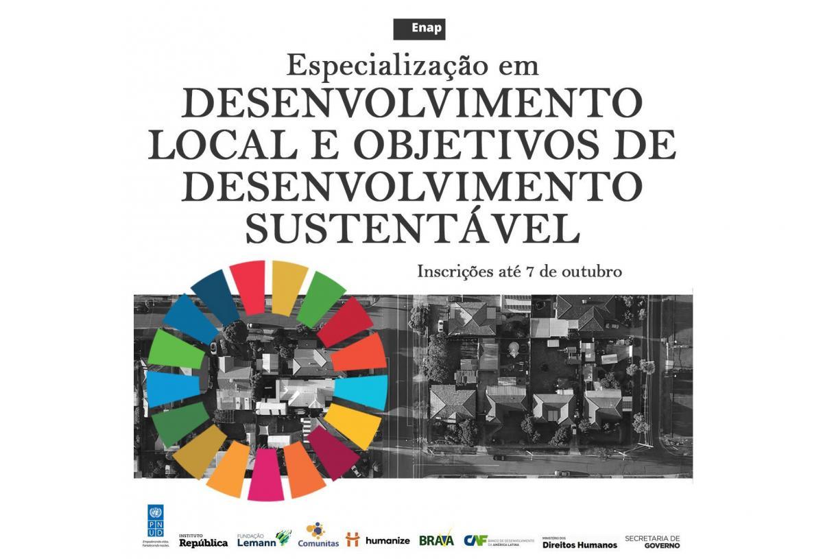Especialização para gestores municipais: Desenvolvimento Local e Objetivos de Desenvolvimento Sustentável