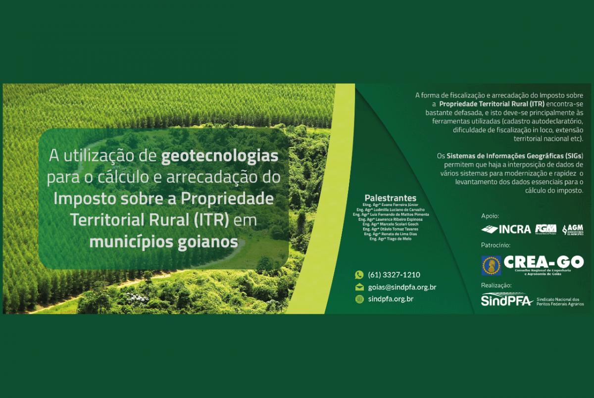 Palestras sobre ITR serão realizadas em municípios de Goiás