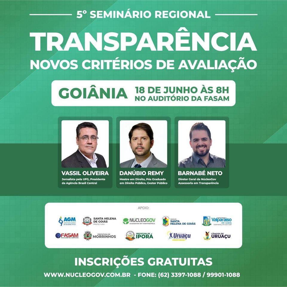 Seminário Transparência, Novos Critérios de Avaliação
