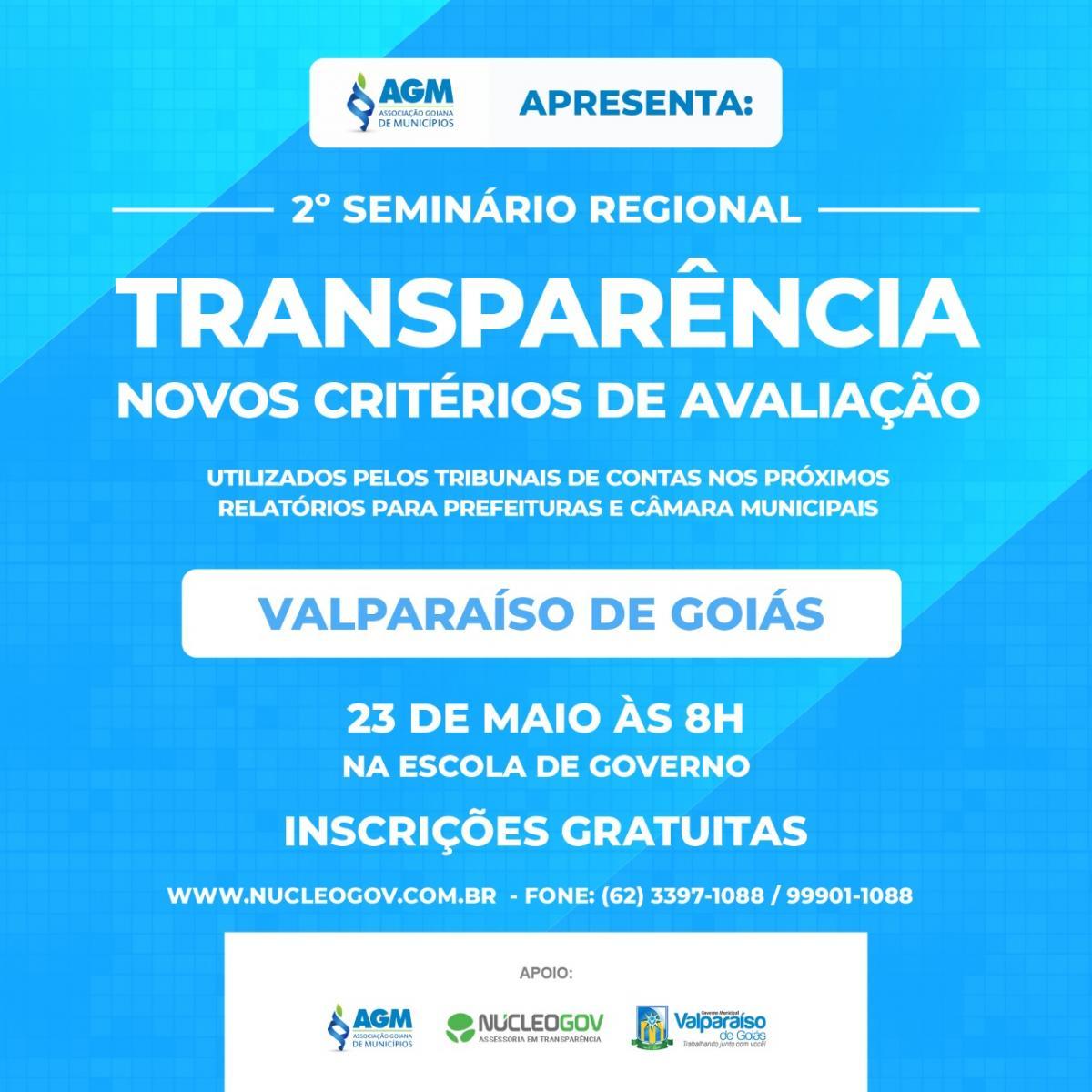 Inscrições para o 2º Seminário Regional sobre os Novos Critérios de Avaliação de Transparência, estão abertas!