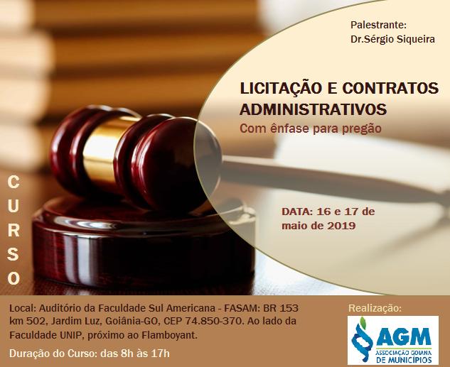 Licitação e contratos administrativos, com ênfase para Pregão.
