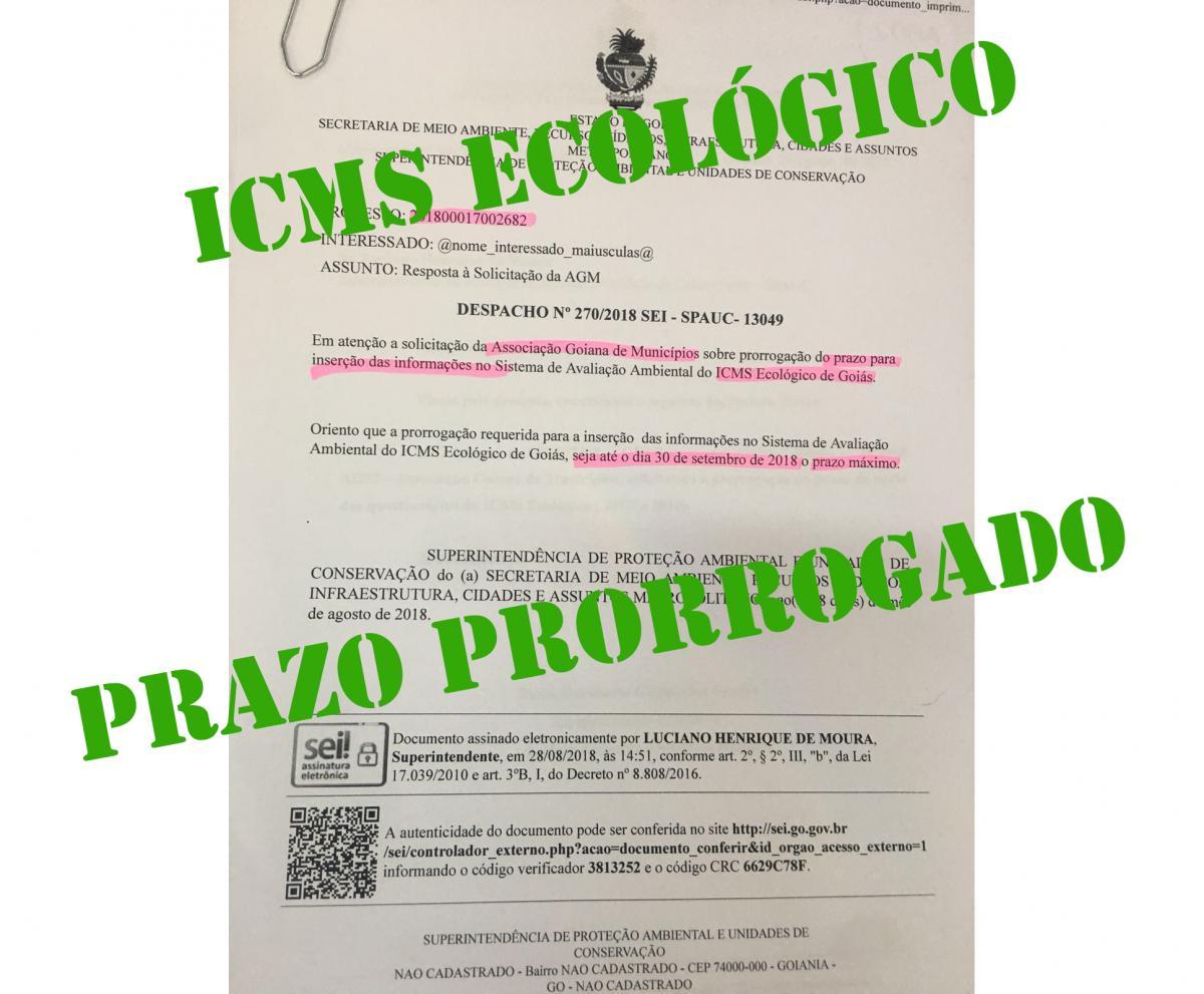ICMS Ecológico: Prazo prorrogado para entrega do questionário