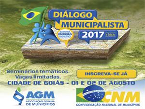 Inscrições abertas para o Diálogo Municipalista na Cidade de Goiás