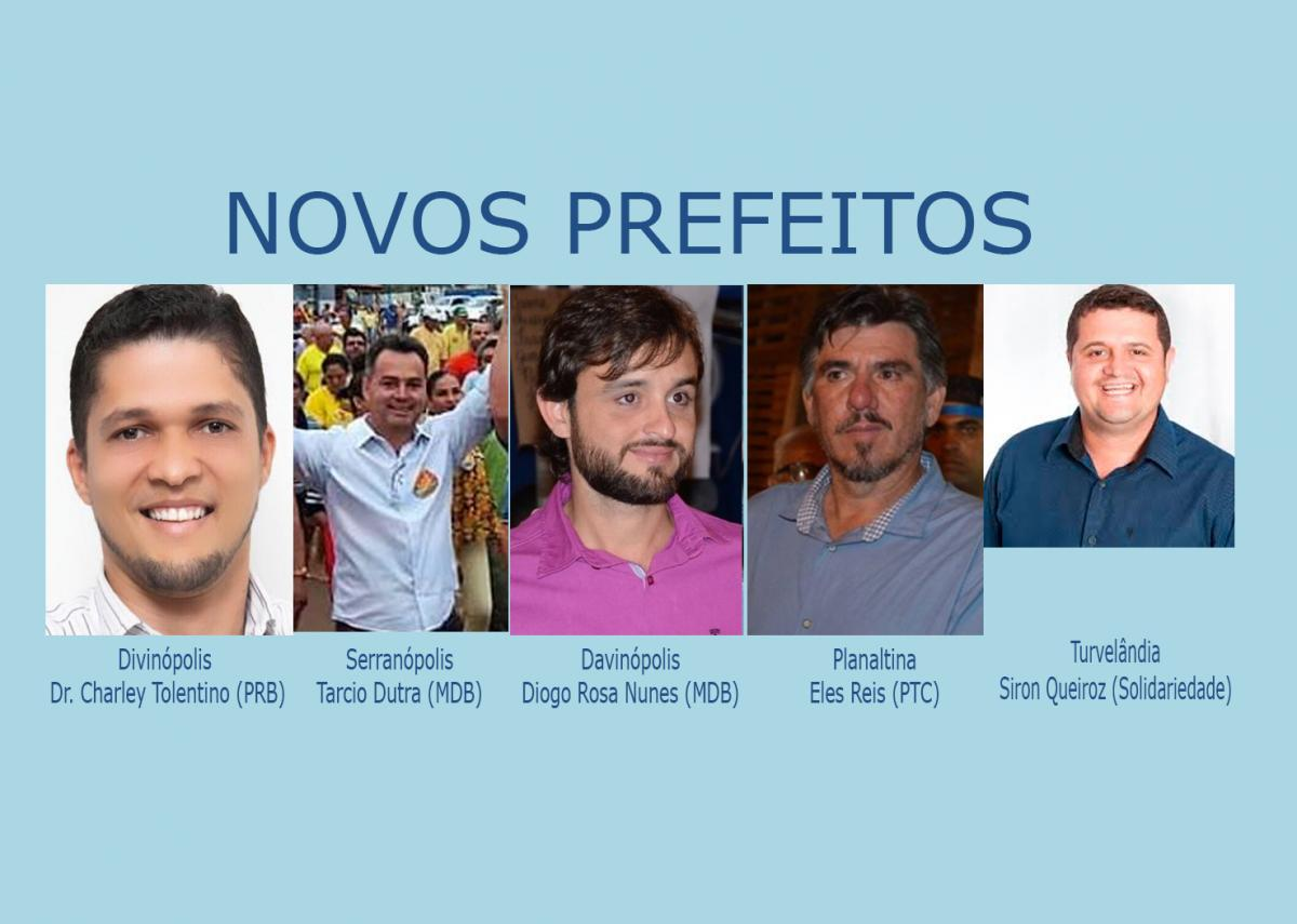 Eleitos cinco novos prefeitos em Goiás