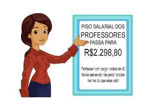 Piso salarial dos professores tem reajuste de 7,64%