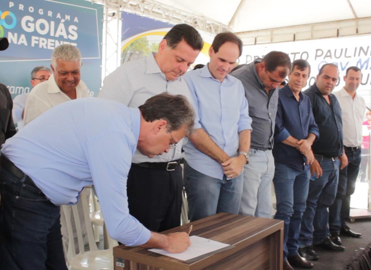 Paraúna recebe duas parcelas doGoiás na Frente, referentes ao convênio que totaliza R$ 2,1 milhões
