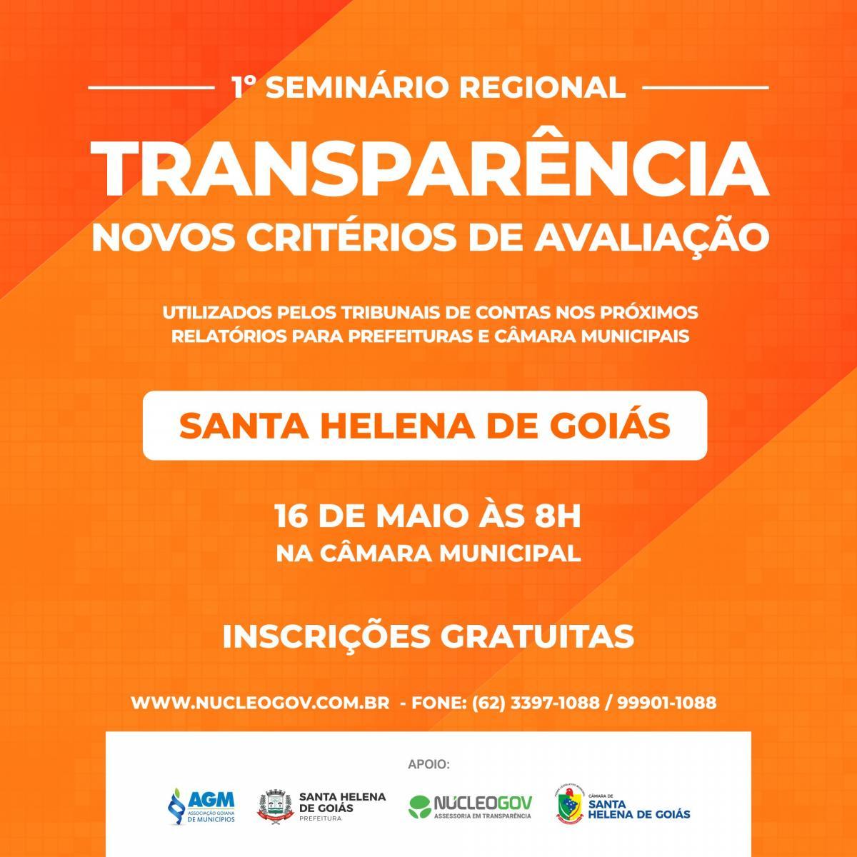 1º Seminário Regional sobre os Novos Critérios de Avaliação de Transparência, inscrições abertas!