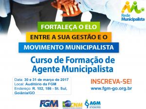 Curso de Agente Municipalista será realizado em Goiás