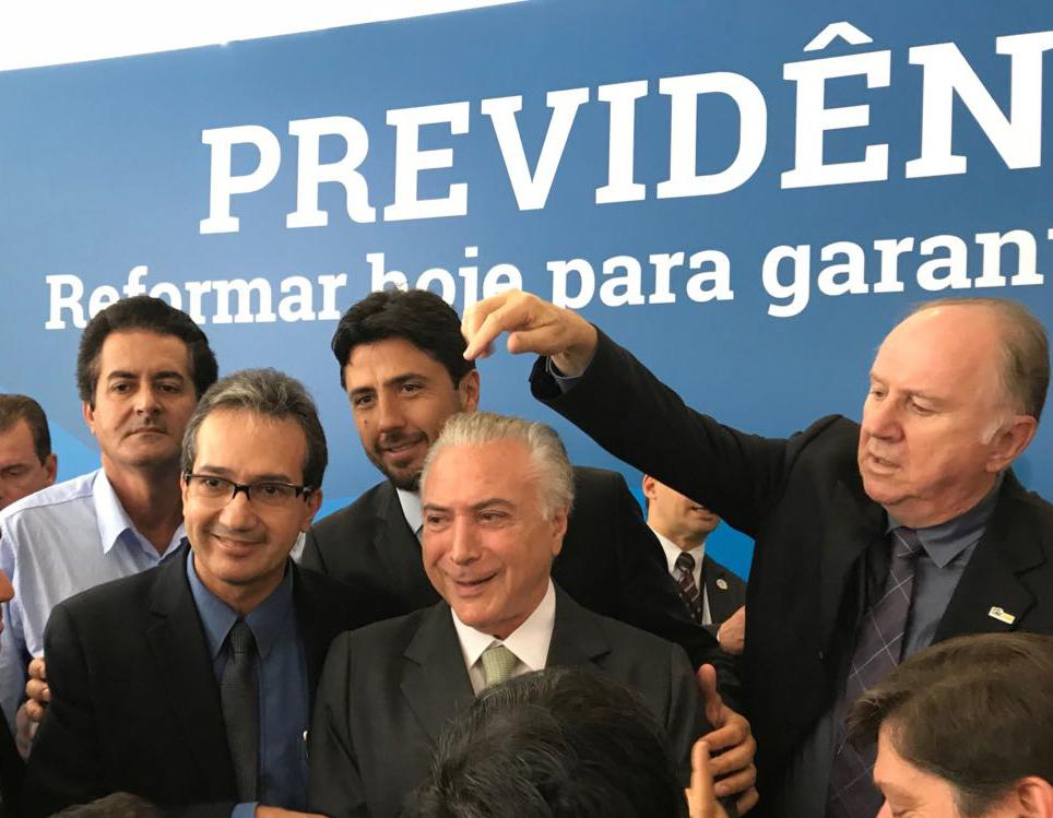 Michel Temer recebe prefeitos no Palácio do Planalto