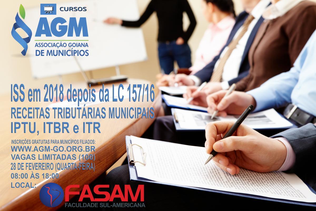FASAM e AGM promovem cursos sobre ISS e Receitas Tributárias