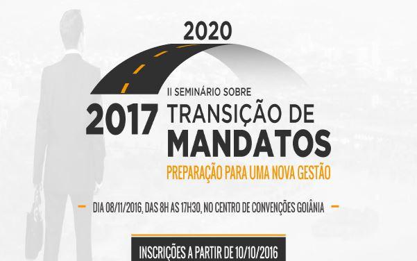 TCM-GO promove o II Seminário sobre Transição de Mandatos