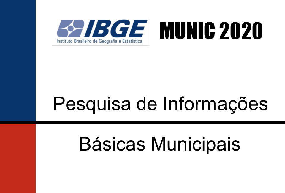 IBGE e AGM convocam municípios a participarem da pesquisa MUNIC 2020