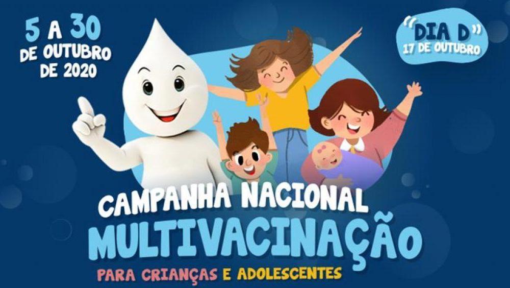 Começa a Campanha Nacional de Vacinação contra a Poliomielite e a Multivacinação