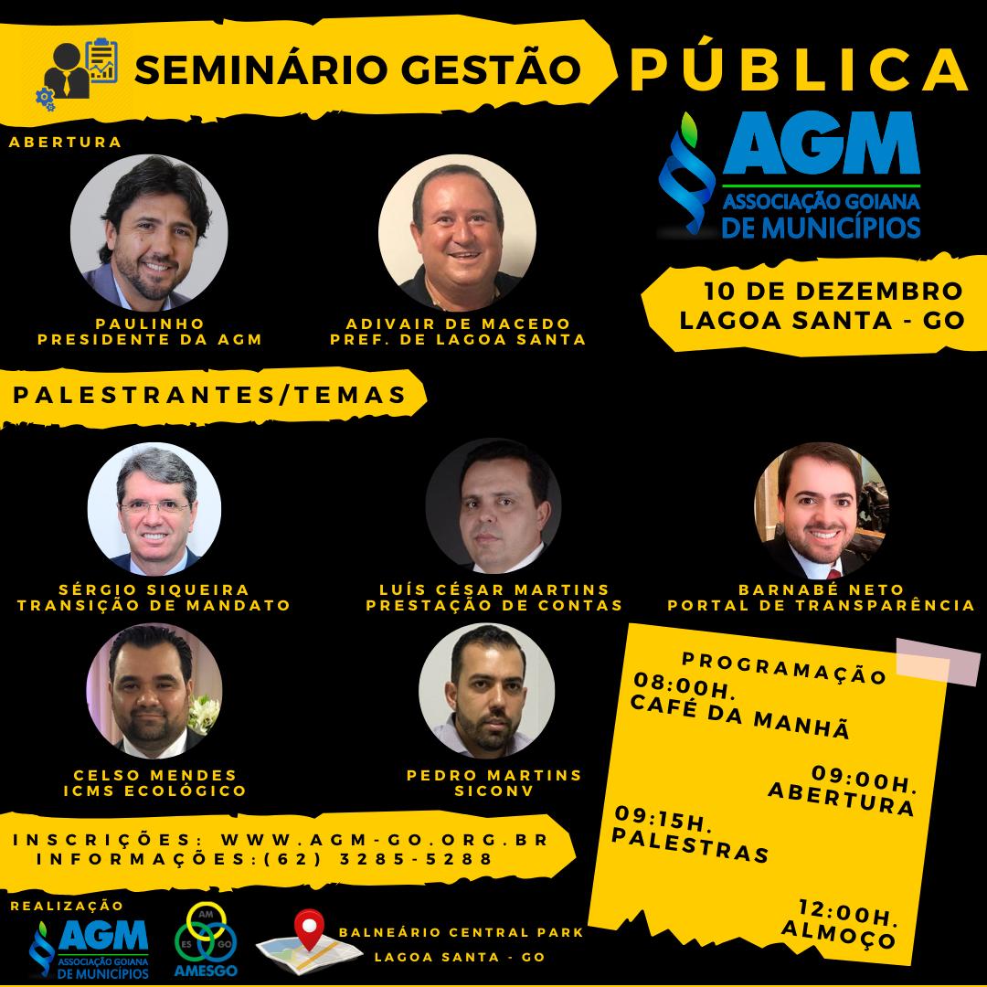 Seminário Gestão Pública AGM – Lagoa Santa-Go