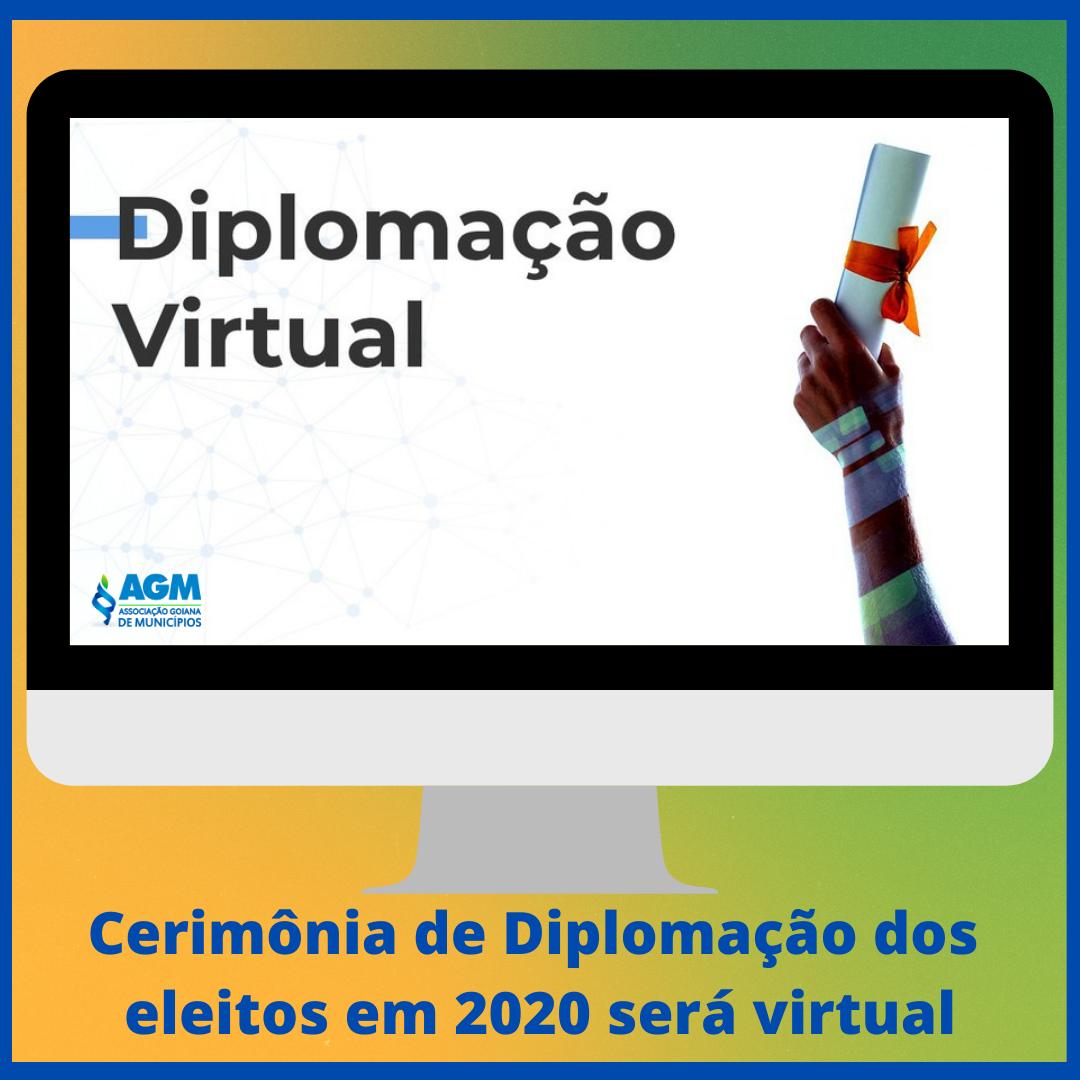 Cerimônia de Diplomação dos eleitos em 2020 será virtual