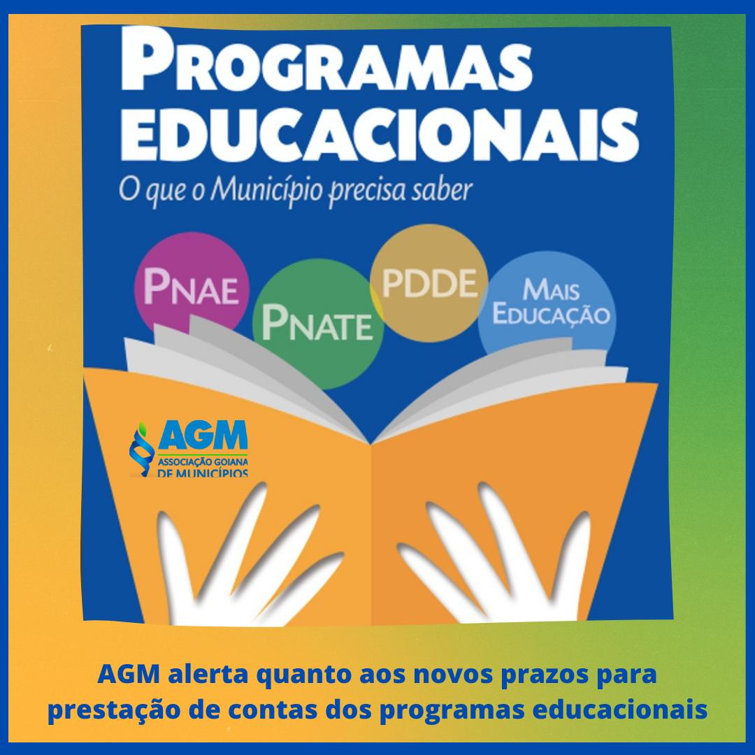 AGM alerta quanto aos novos prazos para prestação de contas dos programas educacionais