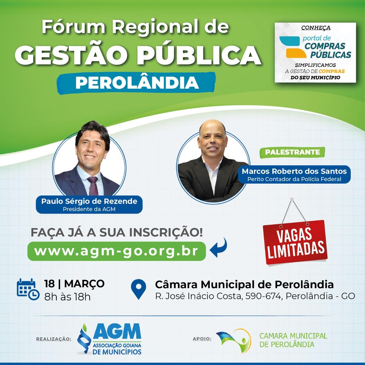 FÓRUM REGIONAL DE GESTÃO PÚBLICA (PEROLÂNDIA)