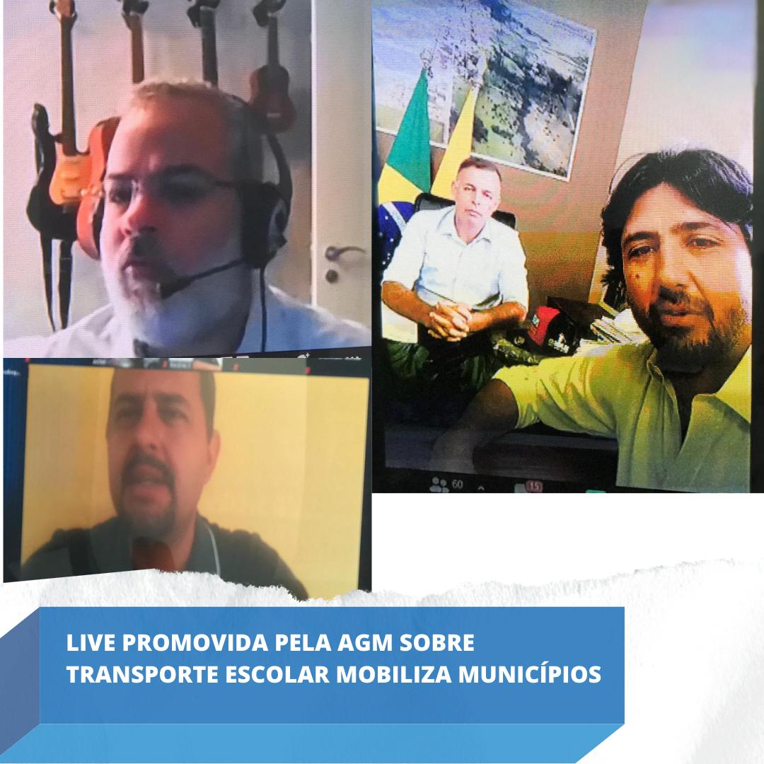 Live promovida pela AGM sobre Transporte Escolar mobiliza municípios