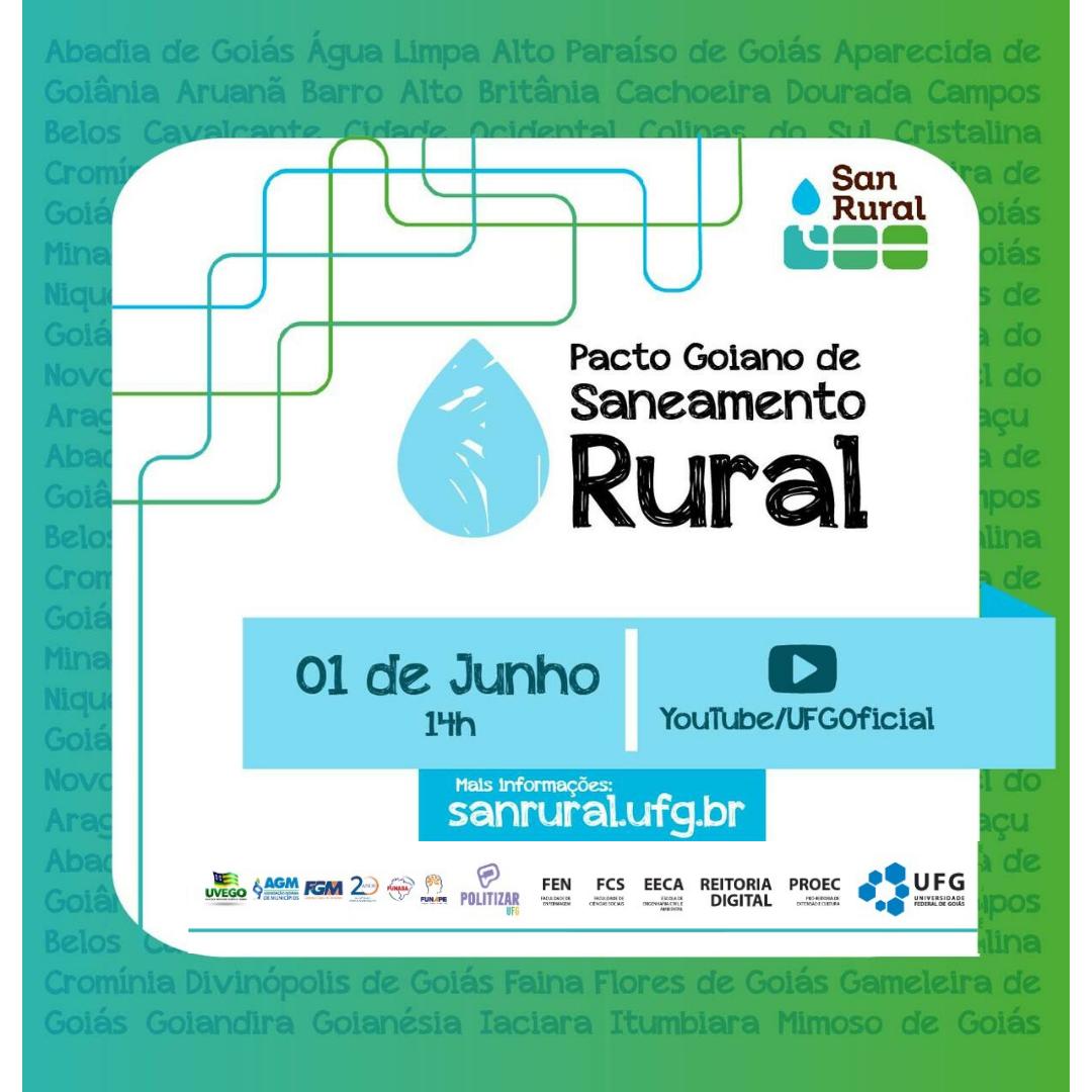 Pacto Goiano para saneamento rural será lançado pela UFG