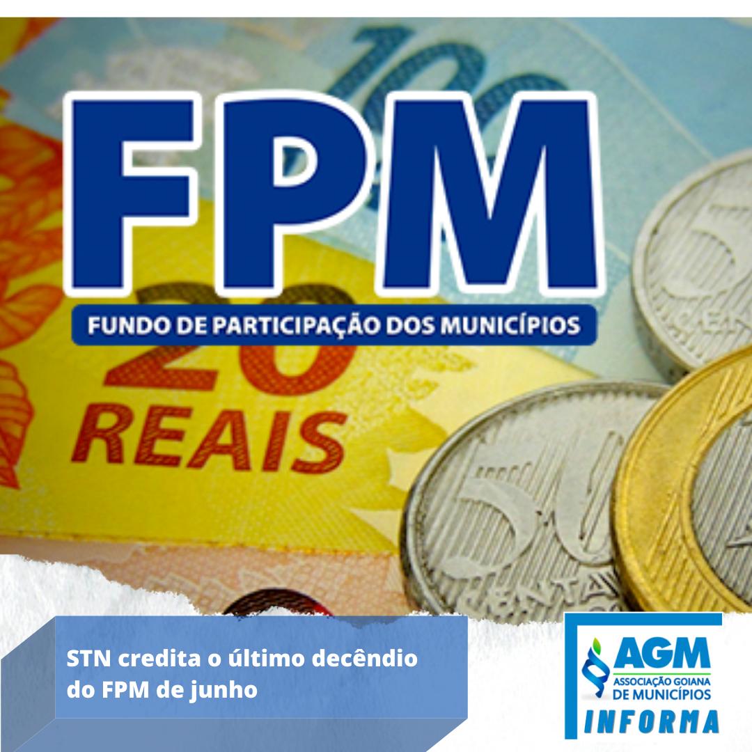 STN credita o último decêndio do FPM de junho