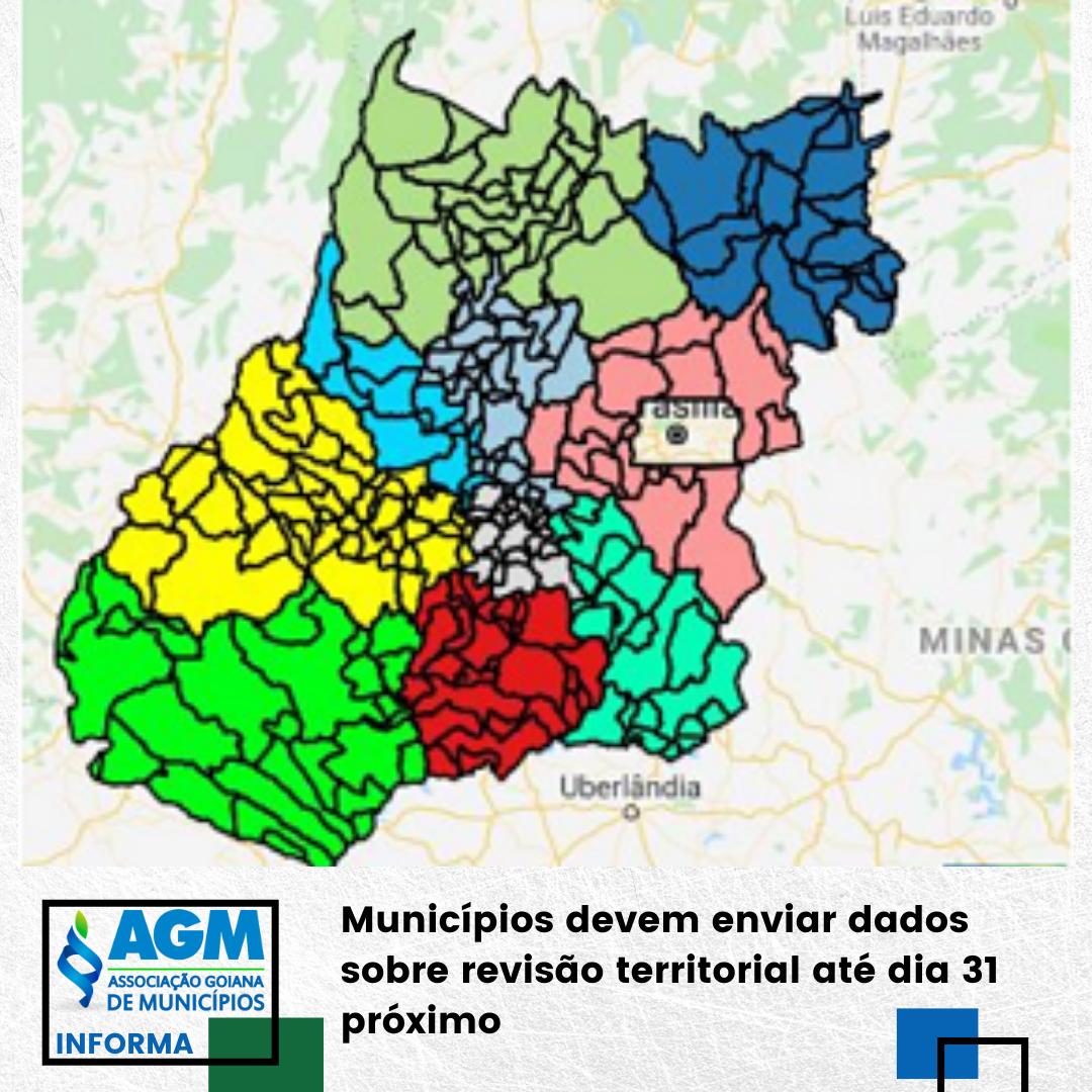 Municípios devem enviar dados sobre revisão territorial até dia 31 próximo