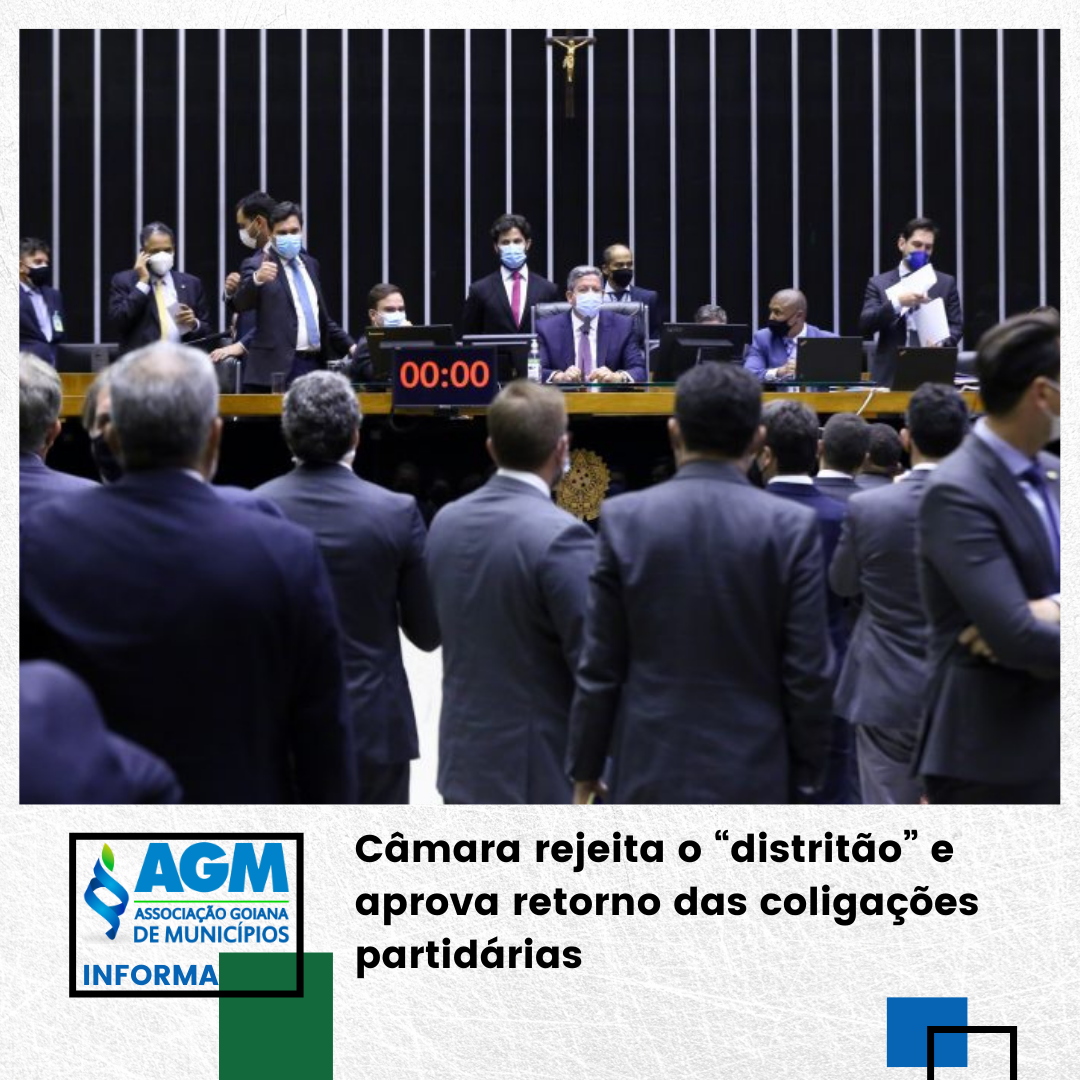 """Câmara rejeita o """"distritão"""" e aprova retorno das coligações partidárias"""