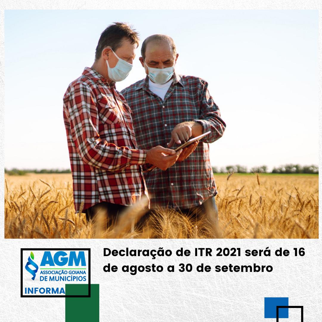 Declaração de ITR 2021 será de 16 de agosto a 30 de setembro