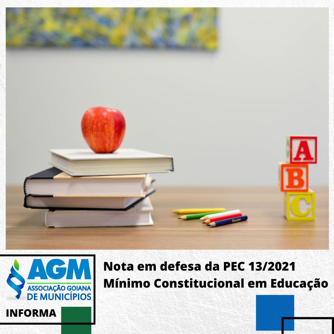 Nota em defesa da PEC 13/2021 – Mínimo constitucional em Educação