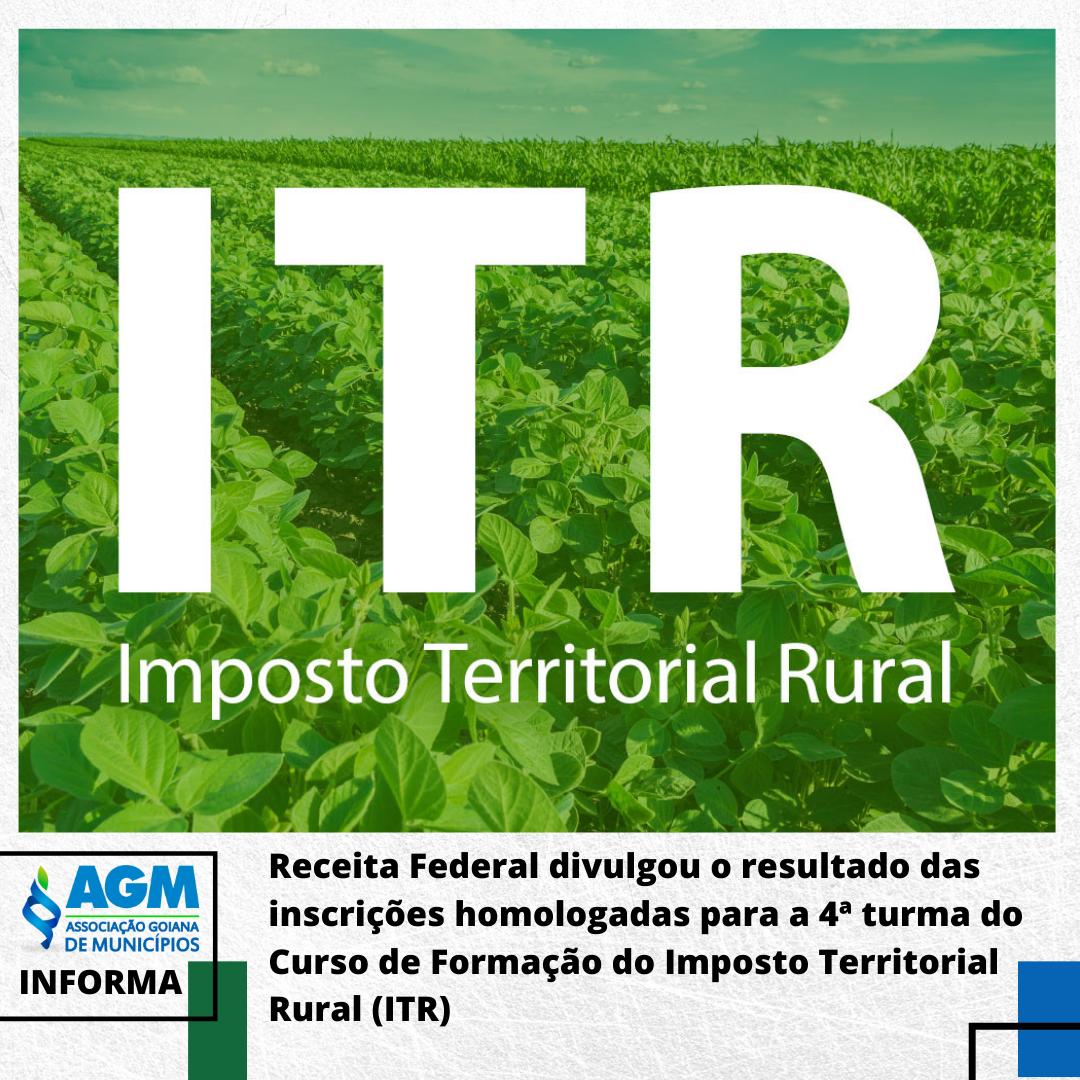 Receita Federal homologa inscrições para o Curso de Formação ITR