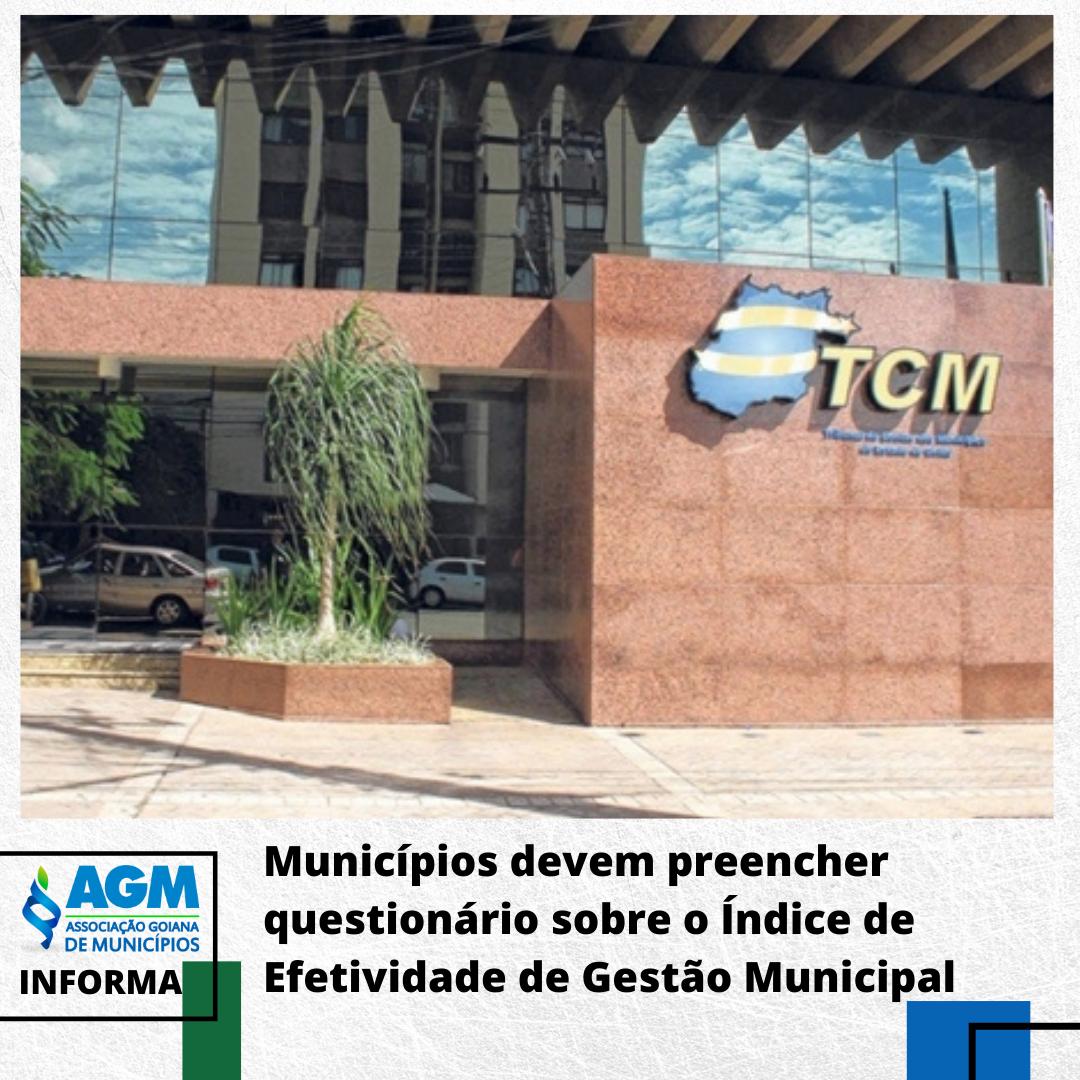 Municípios devem preencher questionário sobre o Índice de Efetividade de Gestão Municipal